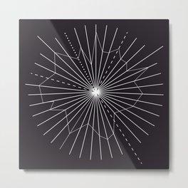 Radial rays Metal Print