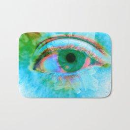 Eye in Bloom [Blue] Bath Mat