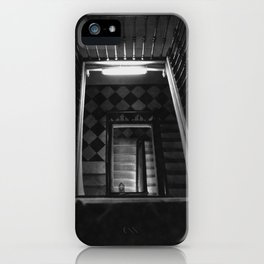 Looking Up - Barcelona Stairwell, Spain iPhone Case