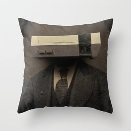 Faces of the Past: Console Throw Pillow