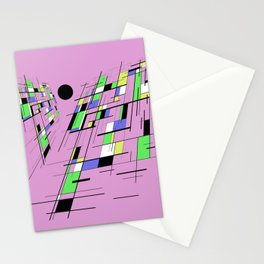 Bad perspective - Abstract, vector, geometric, 3D style artwork Stationery Cards