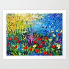POPPIES FIELD 3 Art Print