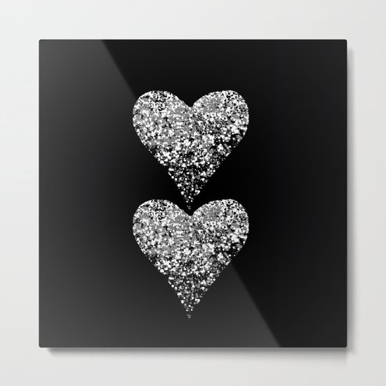 two sparkling hearts Metal Print