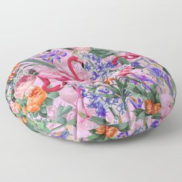 Floral and Flemingo VI pattern Floor Pillow