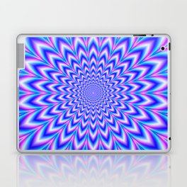 Psychedelic Pulse in Blue and Pink Laptop & iPad Skin