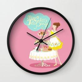 Miss Norbitt's Tea Party Wall Clock