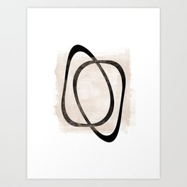 Interlocking Two AA - Minimalist Line Abstract Art Print