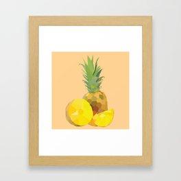 Geo Pineapple Framed Art Print