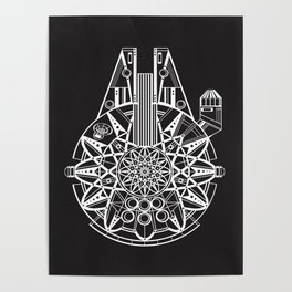 Millennium Falcon Mandala Illustration Poster