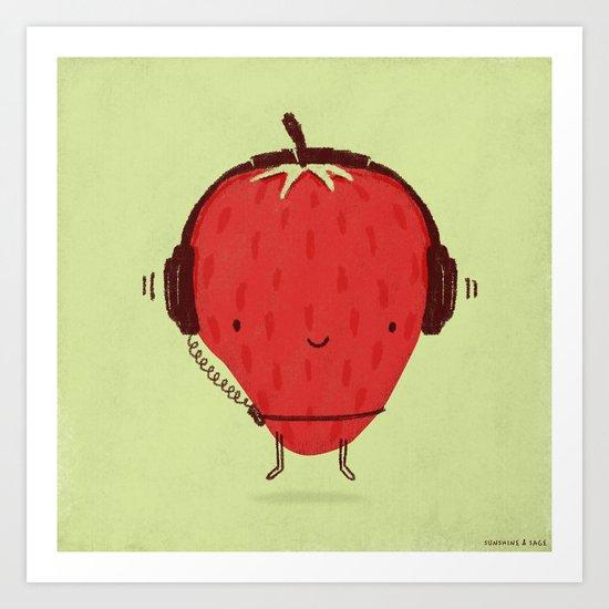 Strawberry Jammin' Art Print