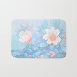 Blue Flowers Dream - Bodyart - Photography by Lana Chromium - beauty - woman - body - soul Bath Mat