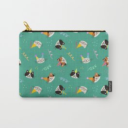 Cat Purr-tay! // Green Carry-All Pouch