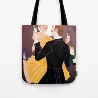 valentines Tote Bags featuring Valentines by Jon Suguiyama