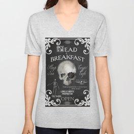 Halloween Decor Dead and Breakfast Unisex V-Neck