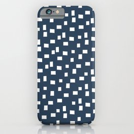 Rectangles 1 | Pattern in Indigo and White iPhone Case