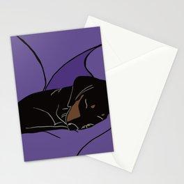 Sleeping Dachshund Puppy Stationery Cards