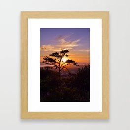 Kalaloch Beach Sunset Framed Art Print