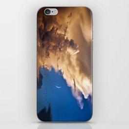 Clouds, Birds, Moon, Venus iPhone Skin