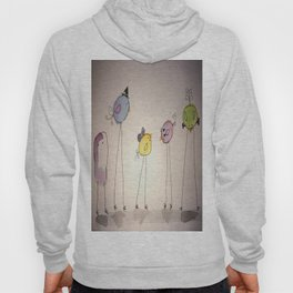 Silly Birds in Costume Hoody