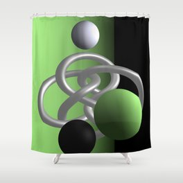 escaped -3of3- green Shower Curtain