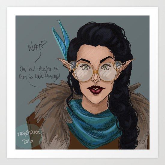 Vex in Percy's Glasses Art Print