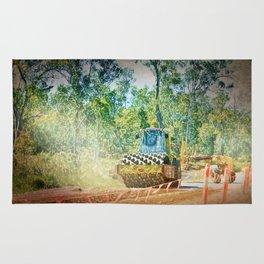 Heavy Industry Roadwork Roller Rug