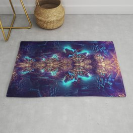 Crystal Magma - Fractal Manipulation - Manafold Art Rug