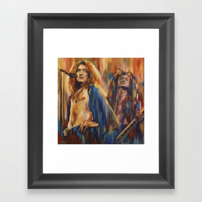 Robert Plant Framed Art Print by Juliaevansart FRM8709220