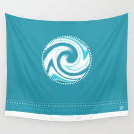 Swirling Water Wave Wall Tapestry