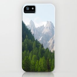 Forest Pines and Mountain Spikes iPhone Case