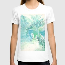 Breathe Blue Abstract Print T-shirt