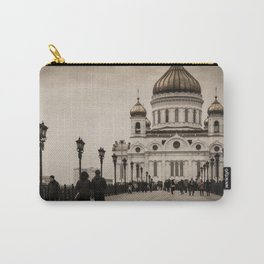the Cathedral of Christ the Savior in Moscow in Sepia Carry-All Pouch