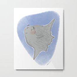 Curiosities of the Sea: Sunfish Metal Print