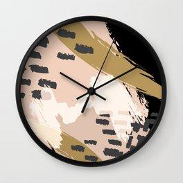 Paint Strokes Wall Clock