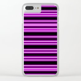 Pink Neon Lines Clear iPhone Case