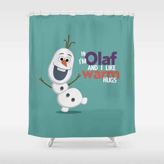 Olaf Shower Curtain By Anillustrateddream18