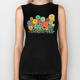Cat in flower garden Biker Tank