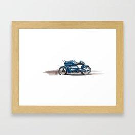 Motorcycle Design Framed Art Print