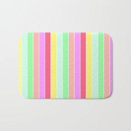 Pastel Rainbow Sorbet Deck Chair Stripes Bath Mat