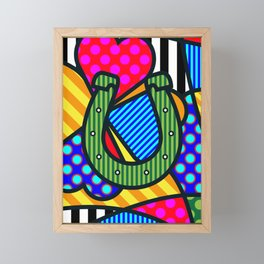 Lucky Horseshoe Framed Mini Art Print