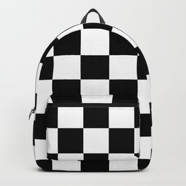 chess board, chessboard  black and white pattern Backpack