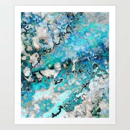 Marble Art V7 Art Print