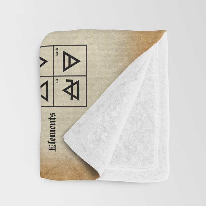 The Alchemical Table of Symbols Throw Blanket