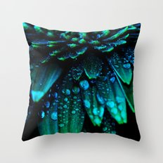 flower - midnight blue Throw Pillow