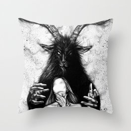 tell me everything Throw Pillow