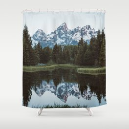 Grand Tetons Relfection at Sunrise Shower Curtain