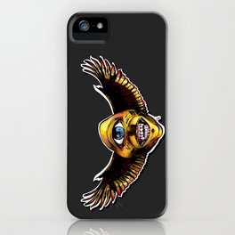 Happy Cycloptic Dog Eagle with a Stache iPhone Case