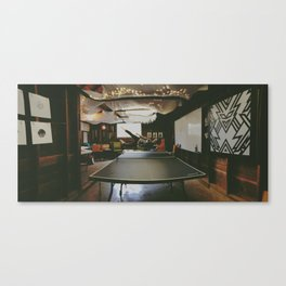 The Game of Ping Pong  Canvas Print