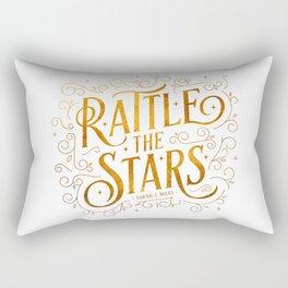 Rattle the Stars - white Rectangular Pillow