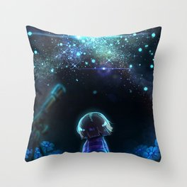 Starry (Night) Undertale Throw Pillow